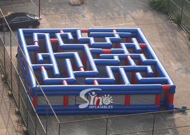 Custom Made Giant Outdoor Amusing Inflatable Maze For Kids N Adults Challenge Activities
