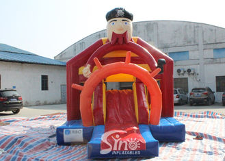Chiny Outdoor Pirate Inflatable Bounce Slide Combo dla dzieci Outdoor Party Fun dostawca