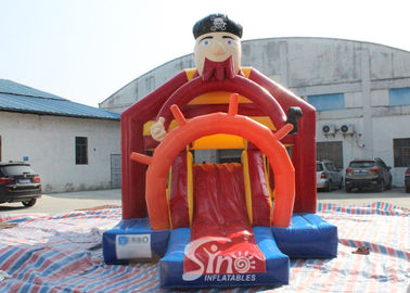 Outdoor Pirate Inflatable Bounce Slide Combo dla dzieci Outdoor Party Fun