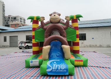 21x13 Kids Jungle Monkey Inflatable Combo Bouncy Castle For Theme Park