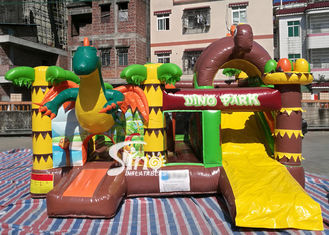 Dinozaury Park Nadmuchiwane Bounce Slide Combo Jumping Castle Z Slide For Inflatable Games