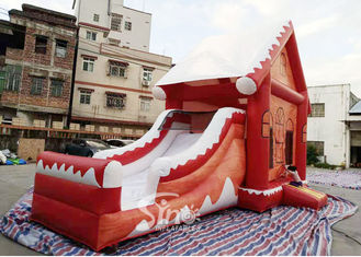 Commercial Grade Inflatable Christmas Jumping Castle With Slide For Kids And Adults