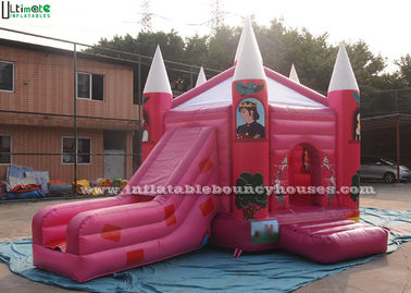 Chiny Pink Fairytale Jumping Castles Princess Palace Bounce House For Girls dostawca