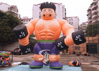 Chiny 5m High Anytime Fitness Inflatable Muscle Man For GYM Outdoor Advertising N Promocje firma
