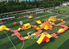 Chiny 42x25m Custom Deisgn Giant Inflatable Floating Water Park Z Silk Printing firma