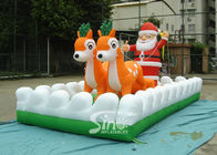 Chiny Outside Christmas Inflatables Jingle Bells / Father And Reindeers Biegają razem firma